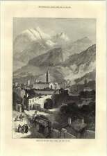 1871 Susa Opening Mont Cenis Tunnel Plan And Section