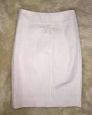 J Crew No 2 Pencil Skirt in Bi-Stretch Cotton Ivory NWT $79.50 2 #E8883 SOLDOUT!