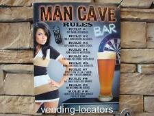 Man Cave Rules New Metal Sign Tin Beer Wall Art Garage Den Game Room Home Decor