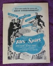 Tars and Spars Janet Blair Original movie ad from 1940's fan magazine L@@K