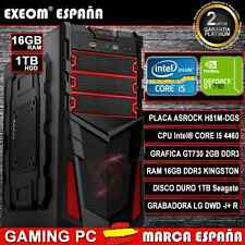 PC GAMING INTEL CORE i5 4460 NVIDIA GT730 2GB 16GB RAM 1TB HDD USB3.0 ORDENADOR