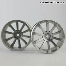 2PCS Wheel  Rim For HSP HPI 1/10 RC On Road Rim for drifting flat car Silver