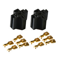 30A /40A SPDT Car Relay Socket Holder Connector With Terminals 5 x 6.3mm -2 Sets