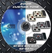 2.650 Patches ZOOM G1-G1x,G1N-G1XN,G2-G2.1u. Multi Effects Processor Custom Tone