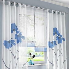 BD 1Set Window Curtain Screens Plant Flower For Living Study Room Bedroom
