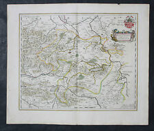 BLAEU,ALTKOLORIERTE KUPFERSTICHKATRE,GRAFSCHAFT MANSFELD,1640