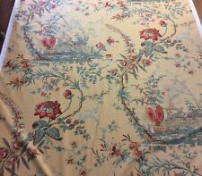 """PAVILLON DU THE"" - Designer Fabric - Made In Switzerland - C1997 - R445"