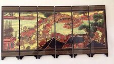 Chinese Foldable Table Screen:Riverside Scene at Qingming Festival. High Quality