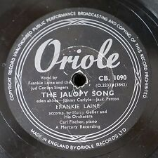 78rpm FRANKIE LAINE the jalopy song / metro polka