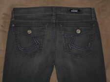 Rock & Republic Size 30 Kurt Dark Gray Stretch Denim Flap Pockets Womens Jeans