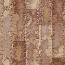 NEW RASCH METAL IRON BEAM BAR WALL FAUX EFFECT RUST TEXTURED WALLPAPER 201901