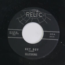 ILLUSIONS: Hey Boy / Lonely Soldier 45 (re) Vocal Groups