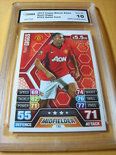 RYAN GIGGS MANCHESTER UNITED 2013 TOPPS MATCH ATTAX GAME CARD # 193 GRADED 10