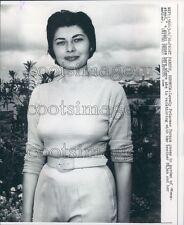 1958 Pretty Princess Soraya of Iran in Bermuda Press Photo