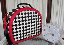 Betsey Johnson Harlequin Train Case Weekender Luggage Bag  FREE COSMETIC NWT