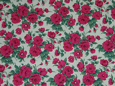 "LIBERTY COTTON POPLIN FABRIC DESIGN ""Carline""  1 METRES (100 CM) CERISE PINK"