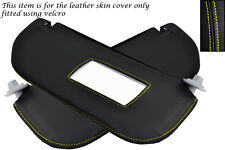YELLOW STITCH FITS CITROEN SAXO 1996-2004 2X SUN VISORS LEATHER COVERS