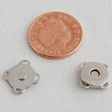 10 Sets Extra Thin Sew On Magnetic Snap Button Bag Clothing Clasp - 11mm