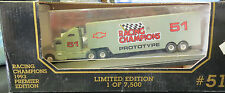 RACING CHAMPIONS PROTOTYPE NASCAR #51 ALL DIECAST TRANSPORTER HAULER LTD 1993