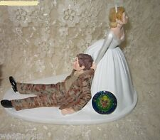 Wedding Party Reception ~ARMY~ Military Cake Topper Desert Storm Camo Funny