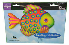 "XL 33"" Tropical Fish Super Shape Mylar Foil Balloon Birthday Party Decoration"