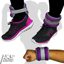Ankle Weights 1lb Each Leg Arm Wrist Adjustable Strap Box Running Sport Fitness