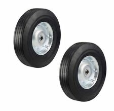 Two Heavy Duty Never-Flat 10-Inch Solid Hard Rubber Hand Truck tire  5/8 axle