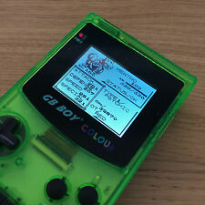 KongFeng GB Boy Backlit GameBoy Color Colour New 60+ Games Crystal Green A✰