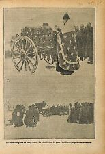 Imperial Russia Army Orthodox priest Artillery Battle War WWI 1915 ILLUSTRATION