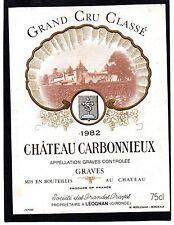 GRAVES 1ER GCC VIEILLE ETIQUETTE CHATEAU CARBONNIEUX 1982 75 CL RARE §29/12§