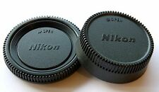 Camera Body Cover + Lens Rear Cap For Nikon D700 D3 D200 D90 D Series UK SELLER