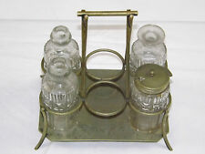 Antique Condiment Cruet Set Tray Stand Oil L & W S Shadford & Wigfull 1879 -1898