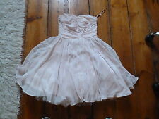 JACK WILLS BABY PINK SILK BUSTIER DRESS 10 50s STYLE