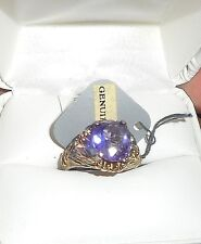 Vintage Womens Amethyst 925 Sterling Silver Cocktail Ring Jewlery Sz 8