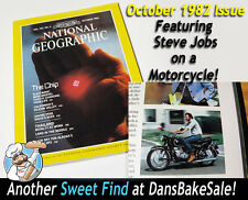 National Geographic Mag October 1982 Issue Steve Jobs Riding 1966 BMW Motorcycle