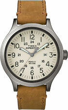 Brand New Timex Men's Expedition Scout Beige/Tan Leather Band Watch TW4B06500