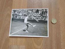 No identificado 1940 / 1950 Macho Jugador De Tenis Match acción Foto Original # 8