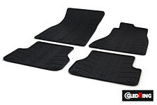 High Quality Black Rubber Tailored Car Mats - Audi A6 C7/4G (11 on) + Clips