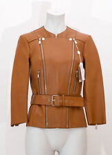 Michael Kors Lederjacke Cognac Leder Leather Jacket Size 2