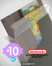 10 BOITIERS PROTECTION PROTECTIVE CASE CARTOUCHE NINTENDO NES LOOSE 0,4 mm NEUFS