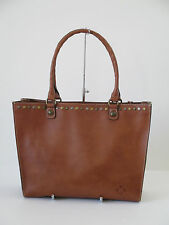 Patricia Nash Zancona Brown Tan Leather Tote Shoulder Handbag