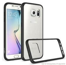 Black/Clear Scratch Resistant Transparent Bumper Case for Samsung Galaxy S7 Edge