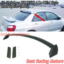 02-07 Impreza 4dr STi Style Rear Roof Spoiler Wing (ABS)