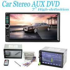 "7"" Bluetooth Car Kit Stereo Audio In-Dash Aux Input Receiver SD/USB MP5 Player"