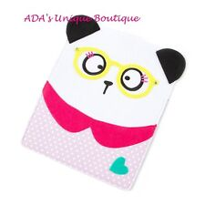 Panda Bear Tablet Case Sturdy Felt Case with Polka Dot & Heart Back Pocket iPad