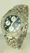 FOSSIL BLUE CH2296 100M CHRONOGRAPH Watch Stainles Steel Original CH 2296 330101