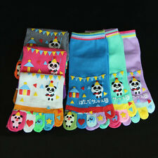 Hot Unisex Toe Socks Five Fingers Cotton Sock Girl Cartoon Hosiery Lovely 1 Pair