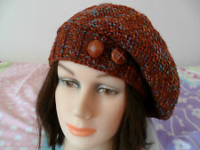Knitting pattern - Quick & easy ladies plain slouchy beret hat .