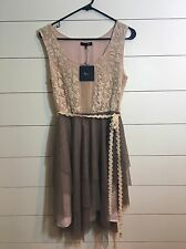 RYU Modcloth Flower Embroidered Lace Tulle Cocktail Dress  Boho NWT Size Medium
