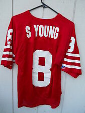 SAN FRANCISCO 49ERS STEVE YOUNG #8 JERSEY BY RUSSELL SIZE MEN'S 44( LRG)